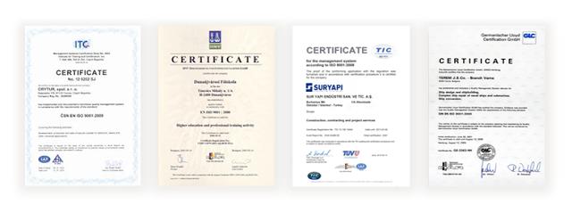 Certificate Hermuno