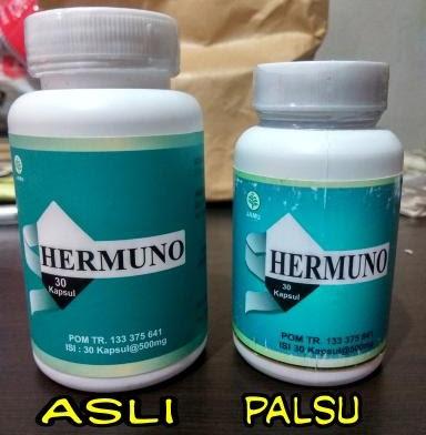 Hermuno Obat Anti Parasit Asli dan Palsu